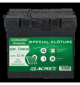 LACME Accu 12V/32 Semi Etan+Pl Epais
