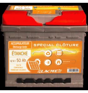 LACME Accu 12V/50 Etanche+Pl Epaisse