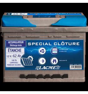 LACME Accu 12V/62 Etanche+Pl Epaisse