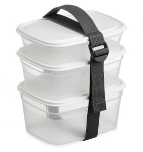 DISTRIFAQ 3 Boîtes Alimentaires Carrees + Strap