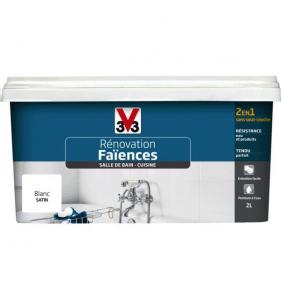 V33 PEINTURE Peinture réno Faience Sdb Carbonate Sat 2L