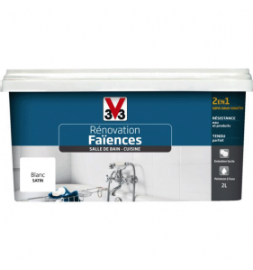 V33 PEINTURE Peinture réno Faience Sdb Blanc Sat 2L