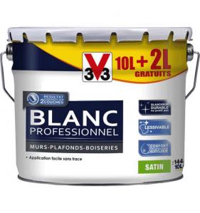 V33 PEINTURE Peint Blanc Pro Satin 10 + 2L