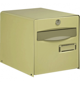 DISTRIFAQ Boite Lettres Kube Double face Beige