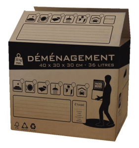 DISTRIFAQ Carton Demenagement 36L