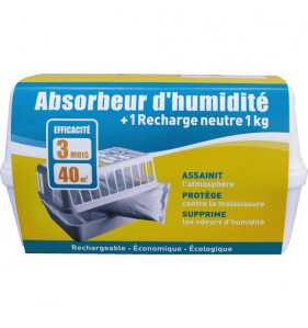 DISTRIFAQ Absorbeur Humidite + Recharge 1Kg