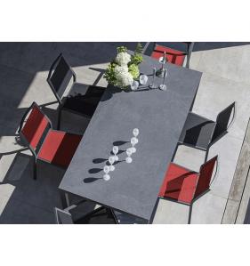 PRO LOISIRS Table Soto 205X100 Alu Gris