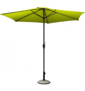 PRO LOISIRS Parasol Alu Acier Inclinable Taupe