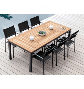 PRO LOISIRS Table Tempo Alu/Teck 210X100