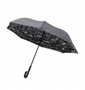 Parapluie Paris par 6 Noir TU