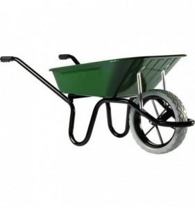 Brouette à roue increvable AKTIV PREMIUM 1 roue - 100 L vert