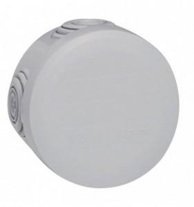 Boîte de dérivation rondes gris Diam. 60 mm x Prof. 40 mm 4 entrées