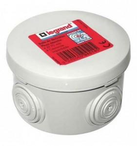 Boîte de dérivation ronde gris Diam. 70 mm x Prof. 45 mm 4 entrées