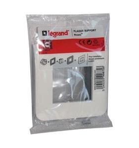 Plaque support Legrand - Mosaïc 2 modules blanc Fixation à vis