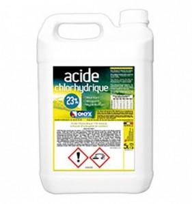 Acide chlorhydrique 23% - Bidon de 5 L