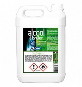 Alcool à brûler 90° - Bidon de 5 L