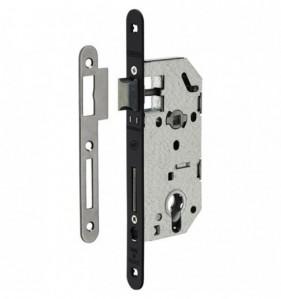 Coffre de serrure à encastrer pour porte d'entrée en acier galvanisé - cylindre - L.entraxe 70 mm - L. axe 40 mm