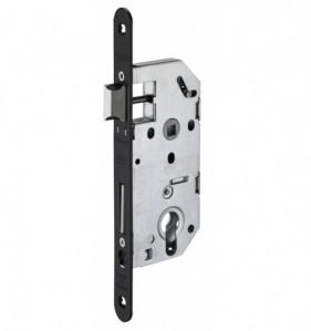 Coffre de serrure à encastrer pour porte d'entrée en acier galvanisé - cylindre - L.entraxe 70 mm - L. axe 50 mm