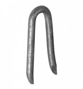 Crampillon pour fixation de clôture acier galvanisé Diam. 20 x L. 180 mm - Blister