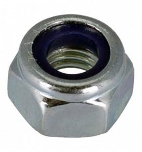 Ecrou frein Matière : Acier zingué Diam. 10 mm - Blister de 4 pièces