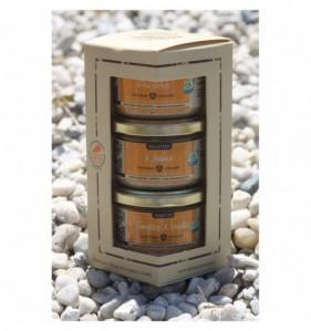 Coffret cadeau 3 rillettes [Cidre/Nature/Tomates & basilic]