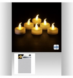 BOUGIES LED BLANCHES (6)